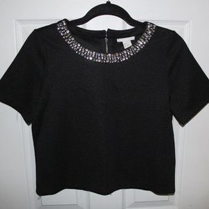 H&M Top with Crystals